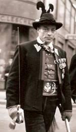 Der legendäre Schützenmajor  Jörg Klotz